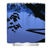 Lake And Trees At Dusk Shower Curtain