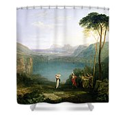 Lake Avernus - Aeneas And The Cumaean Sibyl Shower Curtain