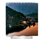 Lake Bled. Slovenia Shower Curtain