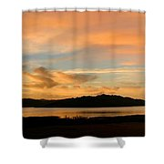 Lake Casitas Sunrise Shower Curtain