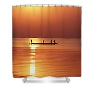 Lake Chilka At Sunrise Shower Curtain