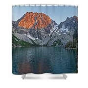 Lake Colchuck Sunset Shower Curtain