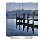 Lake District Jetty Shower Curtain