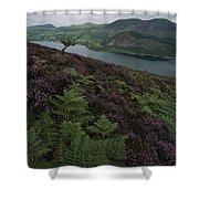 Lake District View From A Hillside Shower Curtain