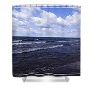 Lake Erie At Evangola State Park 2 Shower Curtain