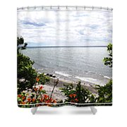Lake Erie Beach At Sturgeon Point Shower Curtain