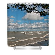 Lake Erie Storm 2371 Shower Curtain