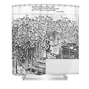 Lake Erie: Vineyard, 1873 Shower Curtain