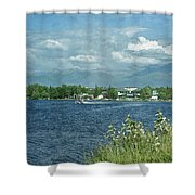 Lake Hood Anchorage Alaska Shower Curtain
