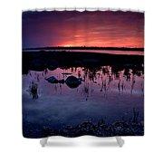 Lake Huron Sunset Shower Curtain
