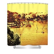 Lake In India Shower Curtain