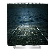 Lake In The Winter Shower Curtain