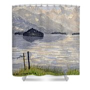 Lake Kilarney Ring Of Kerry Watercolour Painting Shower Curtain