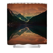 Lake Louise Abstract Shower Curtain