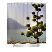 Lake Lugano - Monte Salvatore Shower Curtain