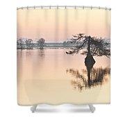 Lake Mattamuskeeet Sunrise Shower Curtain