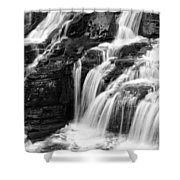 Lake Mcdonald Falls Glacier National Park Shower Curtain