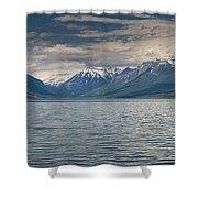 Lake Mcdonald Panorama Shower Curtain