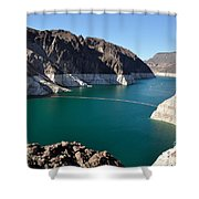 Lake Mead By Hoover Dam Shower Curtain
