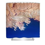 Lake Mead Shores Nv Planet Earth Shower Curtain