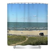 Lake Michigan From The Michigan State Side Shower Curtain