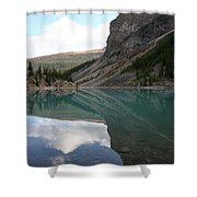 Moraine Lake - Lake Louise, Alberta Shower Curtain