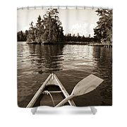 Lake Of The Woods, Ontario, Canada Boat Shower Curtain