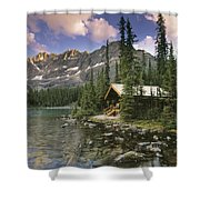 Lake Ohara Lodge Shower Curtain