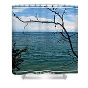 Lake Ontario Near Chimney Bluffs Shower Curtain