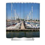 Lake Pepin Harbor Shower Curtain