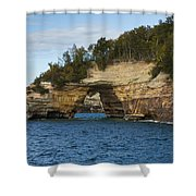 Lake Superior Pictured Rocks 17 Shower Curtain