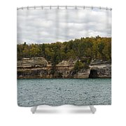 Lake Superior Pictured Rocks 45 Shower Curtain