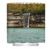 Lake Superior Pictured Rocks 48 Shower Curtain