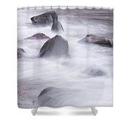 Lake Superior Rocks Waves 1 B Shower Curtain