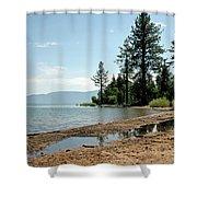 Lake Tahoe Beach Shower Curtain