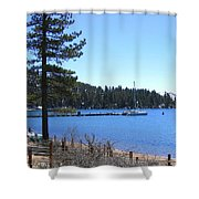 Lake Tahoe Dock Shower Curtain