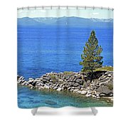 Lake Tahoe Rocky Point Shower Curtain