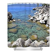 Lake Tahoe Shore Shower Curtain