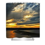 Lake Travis Reflections Shower Curtain