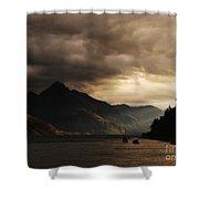 Lake Wakatipu At Sunset Shower Curtain