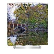 Lake Wingra Bridge Shower Curtain