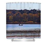 Lake Wingra Fishing Shower Curtain