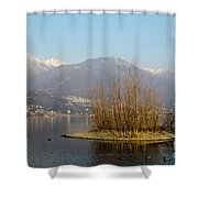 Lake With Island Shower Curtain