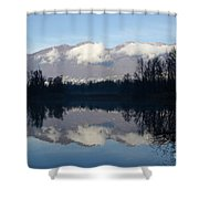 Lake With Mountain Shower Curtain