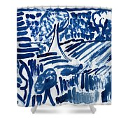 Lakes Of Flowing Shower Curtain