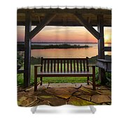 Lakeside Serenity Shower Curtain