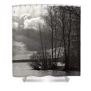 Lakeside Storm Passing Shower Curtain