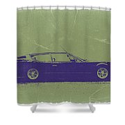 Lamborghini Espada Shower Curtain by Naxart Studio