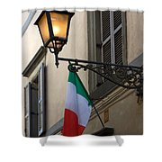 Lamp And Flag Shower Curtain