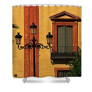 Lamp And Window In Sevilla Spain Shower Curtain